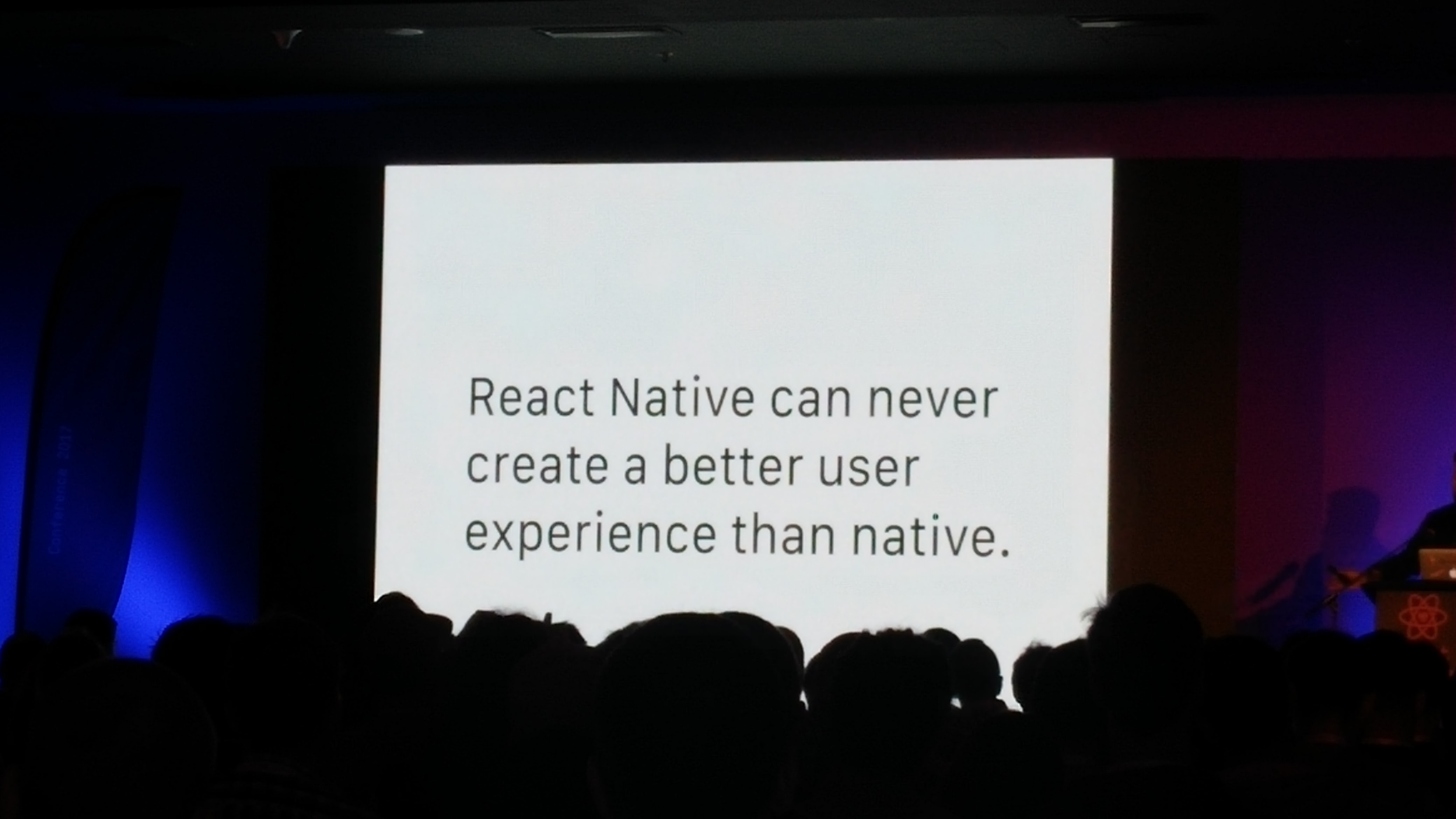 React Native can never be better than native